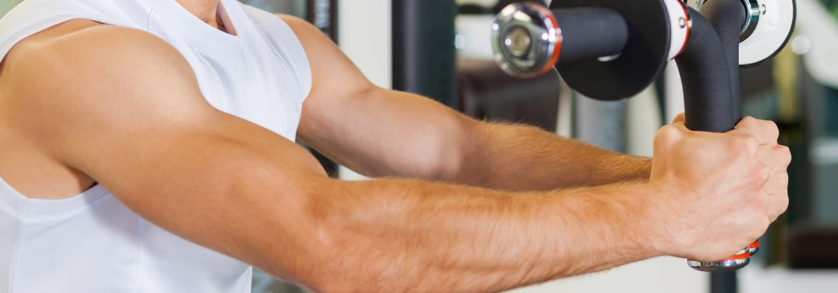 Muscle growth training in the gym